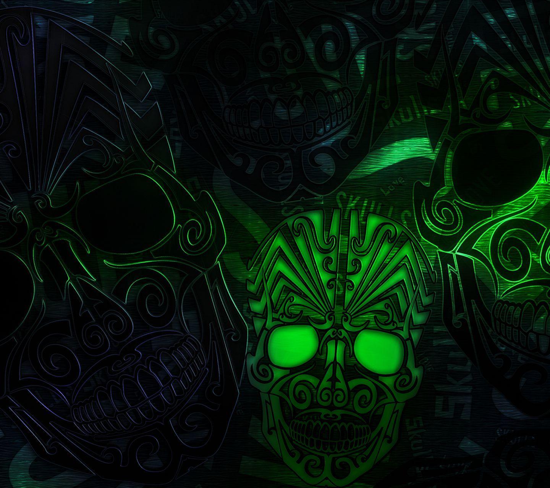 Download · Voodoo Skulls HD Wallpaper,1440x1280,1280x1440,free,hot,mobile phone wallpapers