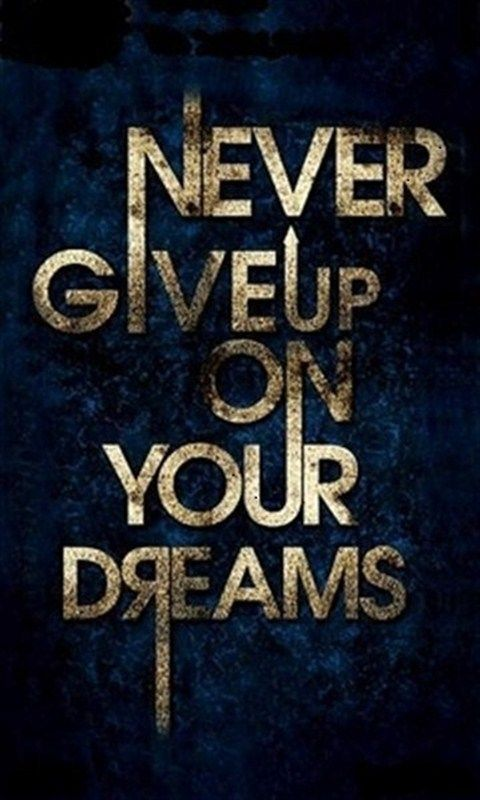 Download · never give up,480x800,800x480,free,hot,mobile phone wallpapers,